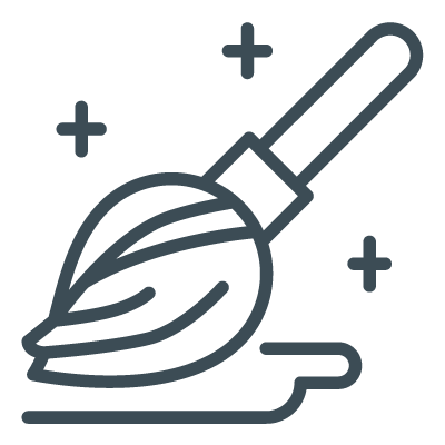 Broom cleaning icon