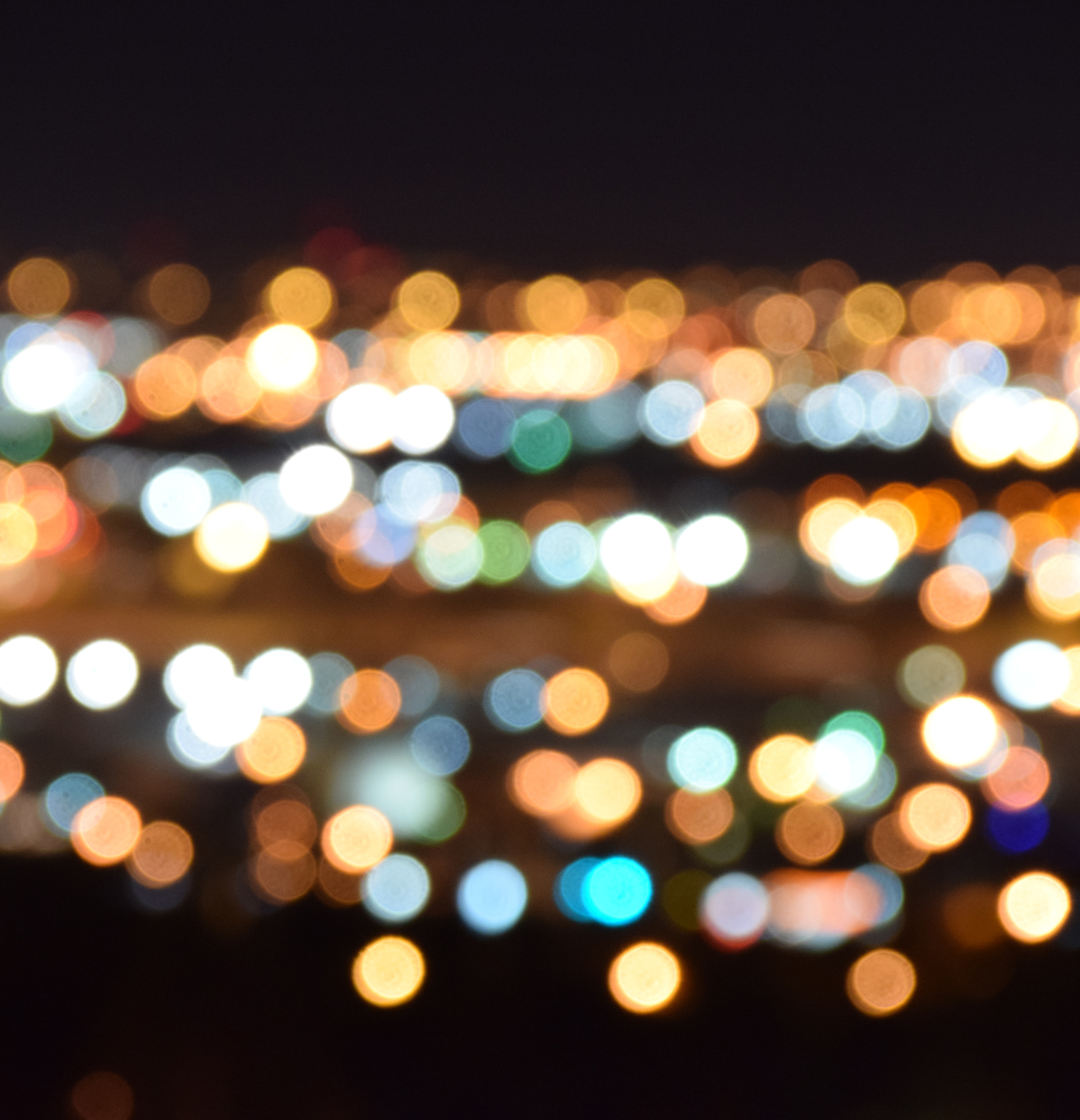 A picture of city lights at night